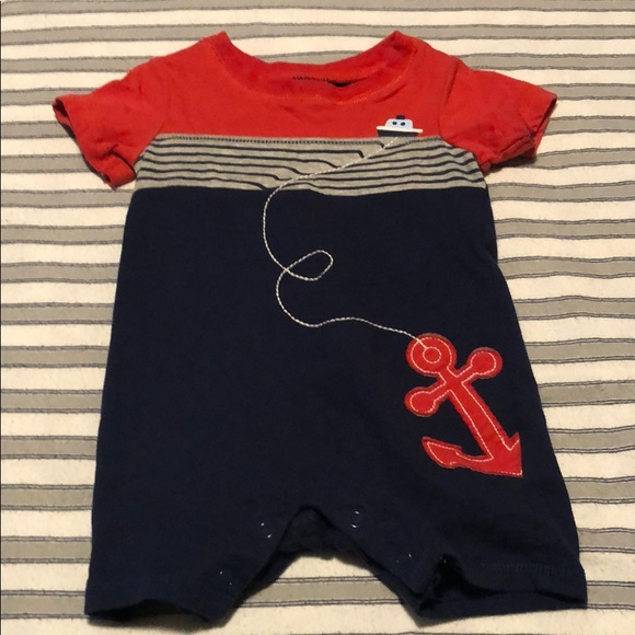 First Impressions Other - Baby Boys Cotton Nautical Romper